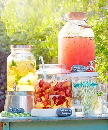 blog summer drink display