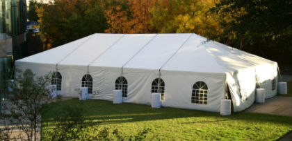 Windowed Sidewall on a White Tent